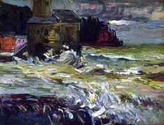Stormy Day - Wassily Kandinsky 1906. #art #arthistory #storm #landscape