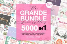 THE GRANDE GRAPHIC BUNDLE  by Daria Bilberry on @creativemarket