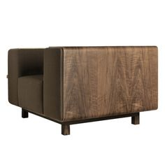 Room B Shell Arm Chair Upholstery: Mahogany, Finish: Wenge Stained White Oak, Base Finish: Dark Oak
