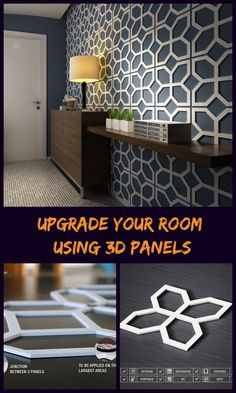 The 3D Wall Panels finishes are a great way to turn the traditional walls into stunning walls.These 3D wall panel effects provide a modern look with classic inspirations for the interior walls of any space. Its cozy and comfortable appearance makes it compatible with all styles of decoration, from the modern to the more traditional. #3dpanels #wallpanels #decor #livingroom #ad