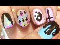 ♥† Pastel Goth Nails †♥