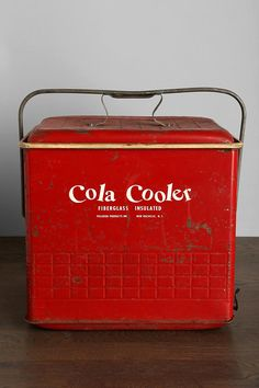 Vintage Cola CoolerI want my small space to be AWESOME. I entered the #UrbanOutfitters Pin A Room, Win A Room Sweepstakes! #smallspace    Pinned via Pin It Button