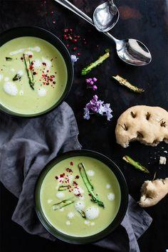 Grüne Spargelcremesuppe © trickytine