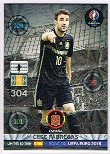 bdca3193467 Panini Adrenalyn XL Road to Euro 2016 Cesc Fabregas Limited Edition