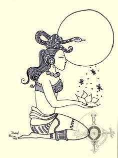 Paloma ilustrada: Deusas: Ixchel: Grande Diosa Maya