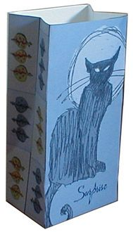 cute gift bag ♥ / free printable  http://www.thetoymaker.com/Toypages/09Catinthebag/09catinthebag.html#