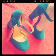 I wish these were my lovely blue high heels shoes