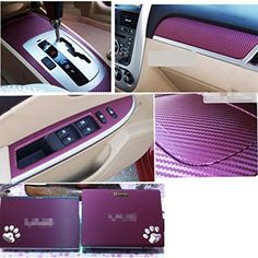 EverTrust(TM) 127*30CM 3D Carbon Fiber Film Vinyl Sticker Car Body / Interior Decoration Purple. 100% brand new and high quality. 127*30cm 3D carbon fiber film sticker, high gloss and smooth finish. Perfect for car body / interior decoration. Make your car more unique and cool. Protect the original paint from scratches. Search EverTrust for more choices!.