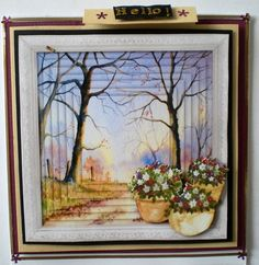 Faux Pyramid Woodland Scene by Pamela Horton: I now know what Vicky meant, when she named this card design, faux pyramid woodland scene.…