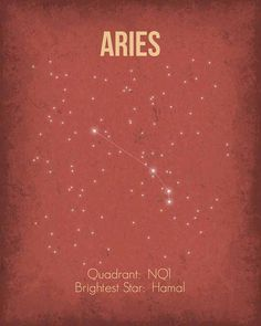 Aries constellation ★ http://www.simplysunsigns.com/