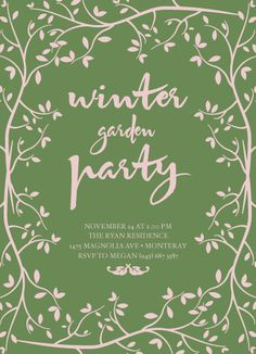 party invitations - Winter Garden by Kampai Designs