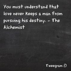 If anything, love will make you go harder.   ~Alchemist