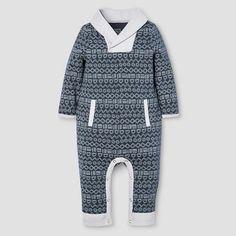Baby Boys' Long Sleeve Romper Nate Berkus™ - Graphite : Target