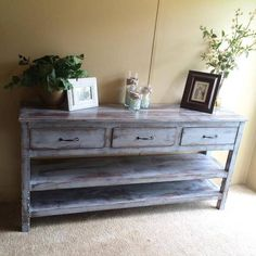 Entryway table or sofa table with drawers