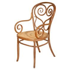 Michael Thonet Bentwood Armchair  Austria  1900's  Rare Thonet bentwood armchair.  Very good condition including the caned seat.