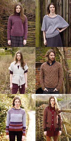 Favorite patterns from Rowan Autumn Knits by Marie Wallin