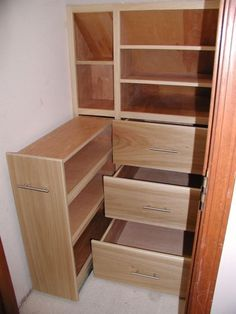 Under stairs storage ideas (Uses drawers!) for basement stairs, just might have to do this is the stairwell at my house in Washington Basement Storage, Basement Stairs, Laundry Room Storage, Stair Storage, Cupboard Storage, Closet Storage, Closet Organization, Storage Spaces, Storage Ideas