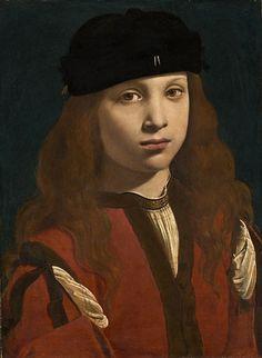 Giovanni Antonio Boltraffio - Portrait of a youth. Possibly Portrait of Francesco Sforza, count of Pavia. Die Renaissance, Renaissance Kunst, Renaissance Portraits, Italian Renaissance, National Gallery Of Art, L'art Du Portrait, Portrait Paintings, Pencil Portrait, Art Paintings