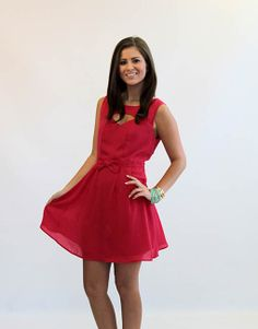 Simple and Sweet Dark Pink Dress with cut out - Lotus Boutique