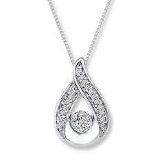 e803f3b6e Circle Necklace Diamond Accents 10K White Gold in 2019 | Future ...