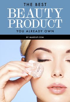 The BEST Beauty Product You Already Own - The solution to so many of your beauty problems is sitting (more like chilling) right there in your freezer — it's ice! This cold wonder is the perfect quick fix to so many common skin issues and it costs NOTHING to use! So, ladies, break out the ice tray and add some cubes to your beauty routine.
