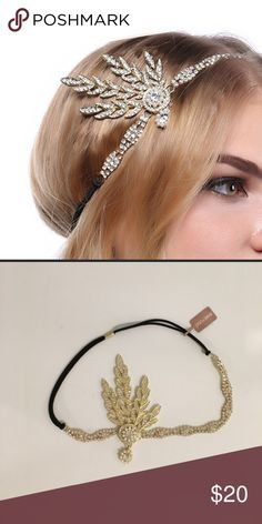 One more left !!! Great gatsby Art Deco inspired headpiece great for festival !!! Accessories Hair Accessories