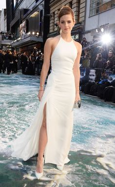 Emma Watson's white gown steals the show at Noah's London premiere in 2014!