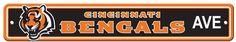wholesale cincinnati-bengals-plastic-street-sign-(case-of-6) (Case of 6)