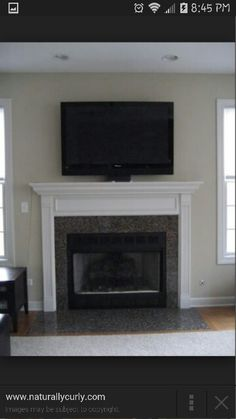 With the TV above