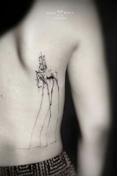 A selection of the tattoos by French artist Gael Ricci, based in Sainte-Maxime, who designs poetic and delicate creations by mixing dotwork, fine lines and g Girl Neck Tattoos, Body Art Tattoos, Tatoos, Sleeve Tattoos, Ocean Tattoos, Arabic Tattoos, Hand Tattoos, Painting Tattoo, Tatoo Art