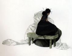 ejemplo de los niños del libro, los artistas contemporáneos, artistas franceses, gráficos, ilustración, Cyrano 'Ilustración de Rebecca Dautremer