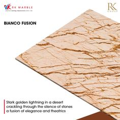 Luxury flows through the veins of the Bianco Fusion marble. The bold veins bring out the soft beige colour of the stone. An arresting vision in any room, the Bianco Fusion is not a stone for subtlety. Explore the stones in our #PremiumCollection and create stellar homes that command instant attention with R K Marble. #RKMarble #RKGroup #lastingimpresions #marble #FeatureFriday #interiordesign #marblewall #architecture #archilovers #ineriordesign #luxuryhomes #luxurystones #createyourspace Marble Suppliers, Beige Colour, Beige Marble, Shades Of Beige, Marble Wall, Luxury Homes, Create Yourself, Design Inspiration, Stones