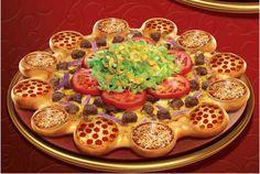 En Oriente Medio, Pizza Hut ha sacado una pizza con mini-pizzas en el borde :)