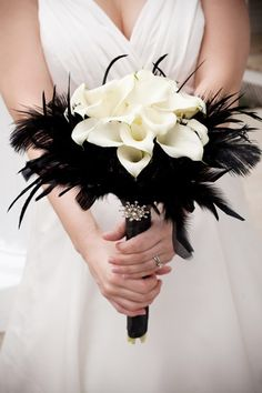 Without the feathers...it would llok incredible against a black dress!