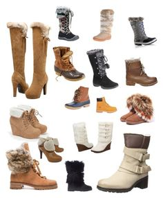 Snow boots by lecoiffeur on Polyvore featuring polyvore, mode, style, Manas, Alexandre Birman, JustFab, L.L.Bean, Bearpaw, Steve Madden, Muk Luks, Brooks Brothers, SOREL, Pajar, Henry Ferrera, Timberland, fashion, clothing and lecoiffeur