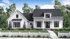 Home Plan HOMEPW78041 is a gorgeous 2077 sq ft, 1 story, 3 bedroom, 2 bathroom plan influenced by + Farmhouse style architecture.