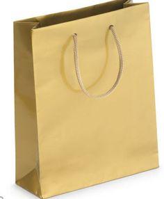 Gold finish gloss laminate gift bags