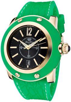 Miami Black Dial Green Silicon Watch