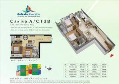 Căn hộ A, 2 phòng ngủ. Tòa căn hộ CT2B, CT3 - Chung cư Gelexia Riverside - 885 Tam Trinh