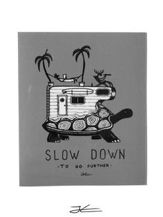 Slow Down Sticker (4 Stickers)