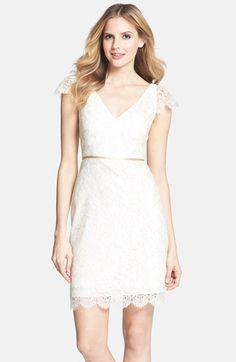 2a195b7472c Jenny Yoo  Bridgitte  Cap Sleeve Lace Sheath Dress