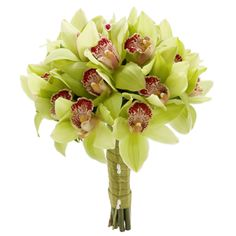 Venetian Signature:#CymbidiumOrchids and #ItalianRuscus #Orchids  #Bouquet #Weddings #VenetianWeddings #VegasWeddings #TheKnot