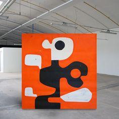 Orange portrait 130 x 130cm