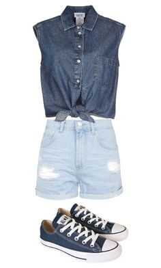"""""""Untitled #446"""" by wongsin ❤ liked on Polyvore featuring Topshop, Jean-Paul Gaultier and Converse"""