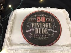 50 Years Old Vintage Dude Cake
