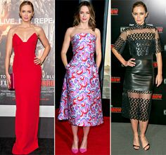 Emily Blunt stuns in three different looks in three different cities all in one day!