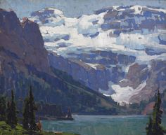 thusreluctant:  Victoria Glacier, Lake Louise by Edgar Payne