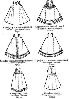 Historical Russian garb, Some would make pretty good  pinnies: just add nice big…