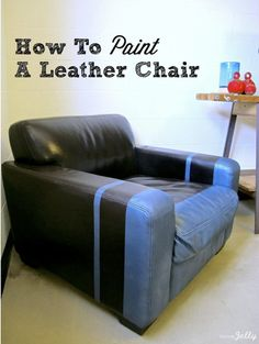 How to Paint A Leather Chair...via HomeJelly