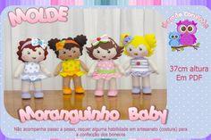 Molde Das Bonecas Da Coleção Moranguinho Baby Em Feltro - R$ 48,00 no MercadoLivre